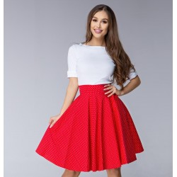 Červená sukně Gotta fine dots