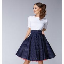Tmavě modrá sukně Gotta fine dots