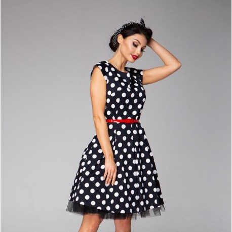 Dámské černé šaty Polka Dots