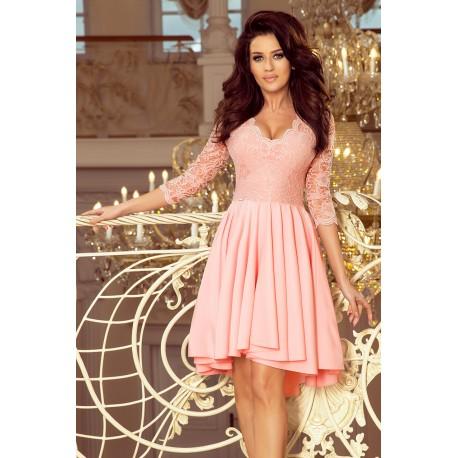Luxusní dámské šaty Elegance lososové