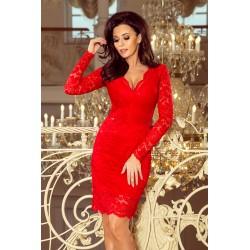 Luxusní dámské krajkové šaty Olivia Red