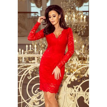 c5020cc78031 Luxusní dámské krajkové šaty Olivia Red - Alltex-fashion.cz