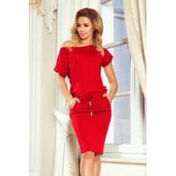 Dámské šaty se zavazovací tkanicí Red