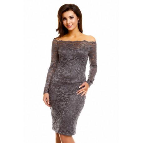 Krajkové šaty AGNES Grey