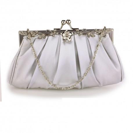 Luxusní zdobené psaníčko silver AG, Barva Stříbrná L&S Fashion AG0098