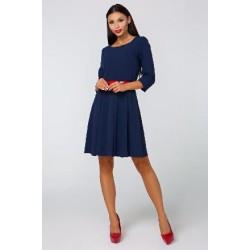 Šaty VALENTINA s 3/4 rukávem tmavě modré
