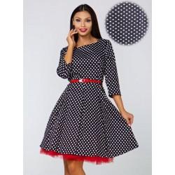Šaty EMMA s 3/4 rukávem a puntíky