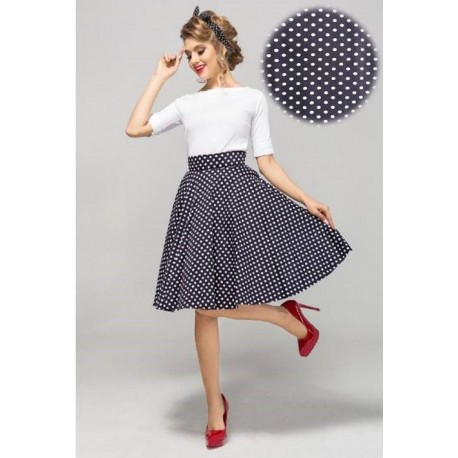Tmavě modrá sukně Gotta - střední puntík