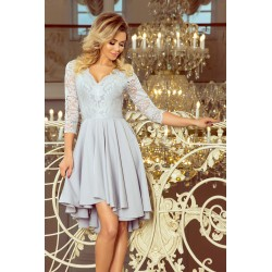 Luxusní dámské šaty Elegance šedé