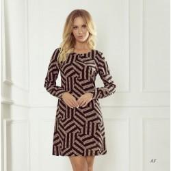 Dámské vzorované šaty BB