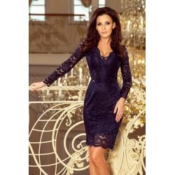 Luxusní dámské krajkové šaty Olivia Navy
