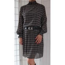 Šifonové šaty se vzorem 789