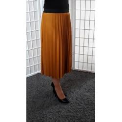 Plisovaná sukně – hořčicová 2569