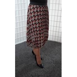 Plisovaná vzorovaná sukně 0991