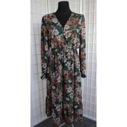 Dlouhé vzorované šaty 556