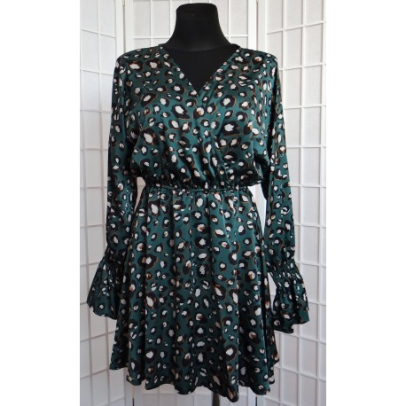 Saténové šaty se vzorem