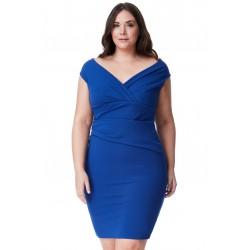 Dámské šaty pro plnoštíhlé modré