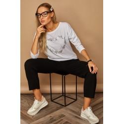 Dámské bavlněné tričko SRDCE bílé