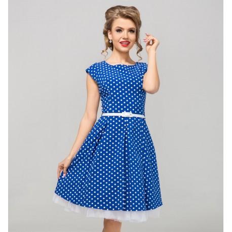 Modré šaty Gotta s puntíky
