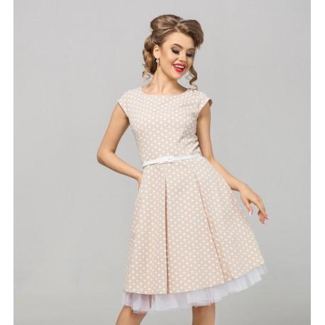 Kapučínové šaty Gotta s puntíky