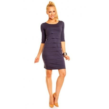 Dámské společenské šaty Brygida s 3/4 rukávem korálové