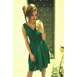 Krásné dámské šaty šifonové bez rukávu zelené