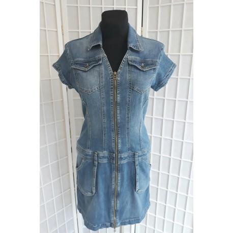 Jeans šaty modré