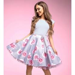 Šaty Gotta šedé s květy