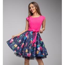 Šaty Gotta růžové s květy