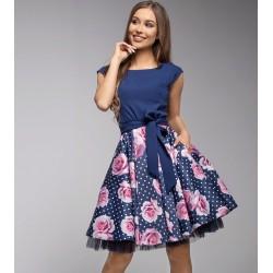 Šaty Gotta modré s květy