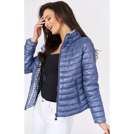 Dámská prošívaná bunda 2v1 modrá