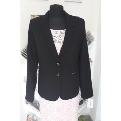 Dámské sako černé s límečkem