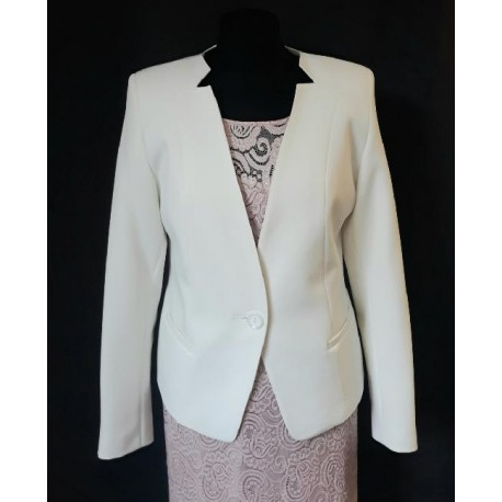 Dámské elegantní smetanové sako