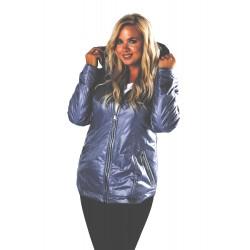 Dámská prošívaná bunda modrá