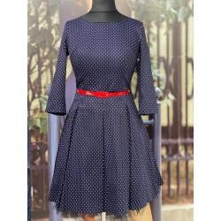 Gotta modré šaty s 3/4 rukávem