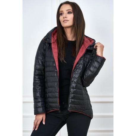 Dámská bunda 2v1 černo-červená