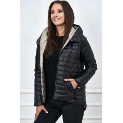 Dámská bunda 2v1 černo-béžová
