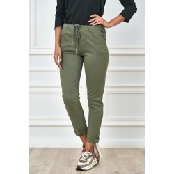 Dámské bavlněné kalhoty zelené
