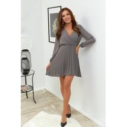 Šifonové šaty s plisovanou sukní