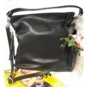 Kožená kabelka - černá