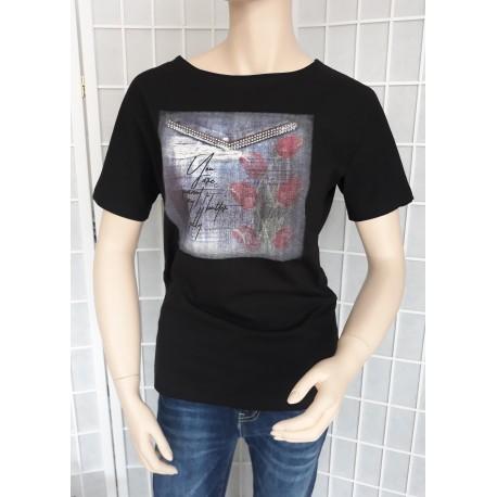 Dámské bavlněné tričko - černé