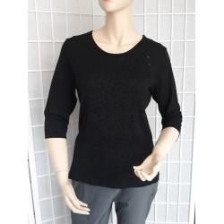 Dámská halenka / tričko s 3/4 rukávem - černé