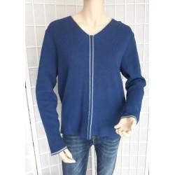 Dámský lehký elegantní svetr - modrý