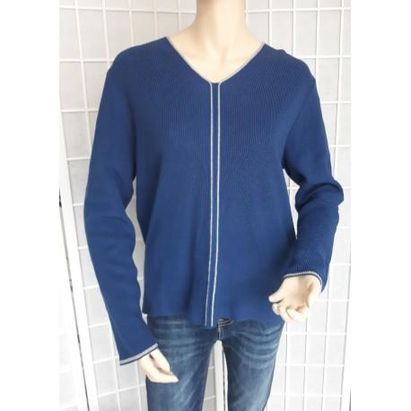 Dámský lehký elegantní svetr - rmodrý