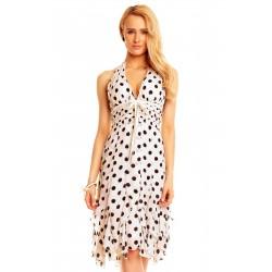Dámské společenské šaty bez rukávu Michele bílé