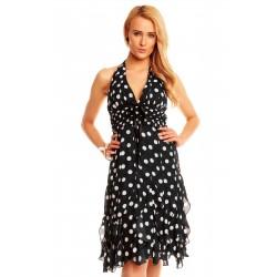 Dámské společenské šaty bez rukávu Michele černé