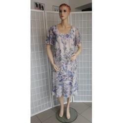 Dámské společenské šaty VIOLA - květinové