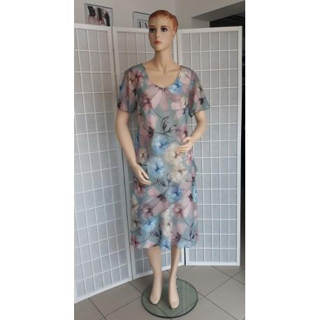 Dámské společenské šaty SARY - květinové