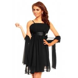 Dámské společenské šaty Charm's Paris se šálou na ramínka černé