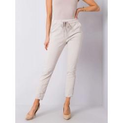 Dámské béžové trendy kalhoty